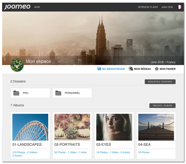 Joomeo HTML5 - La nouvelle interface