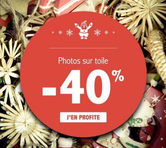 -40% sur les photos sur toile, c'est Noël bien avant l'heure !